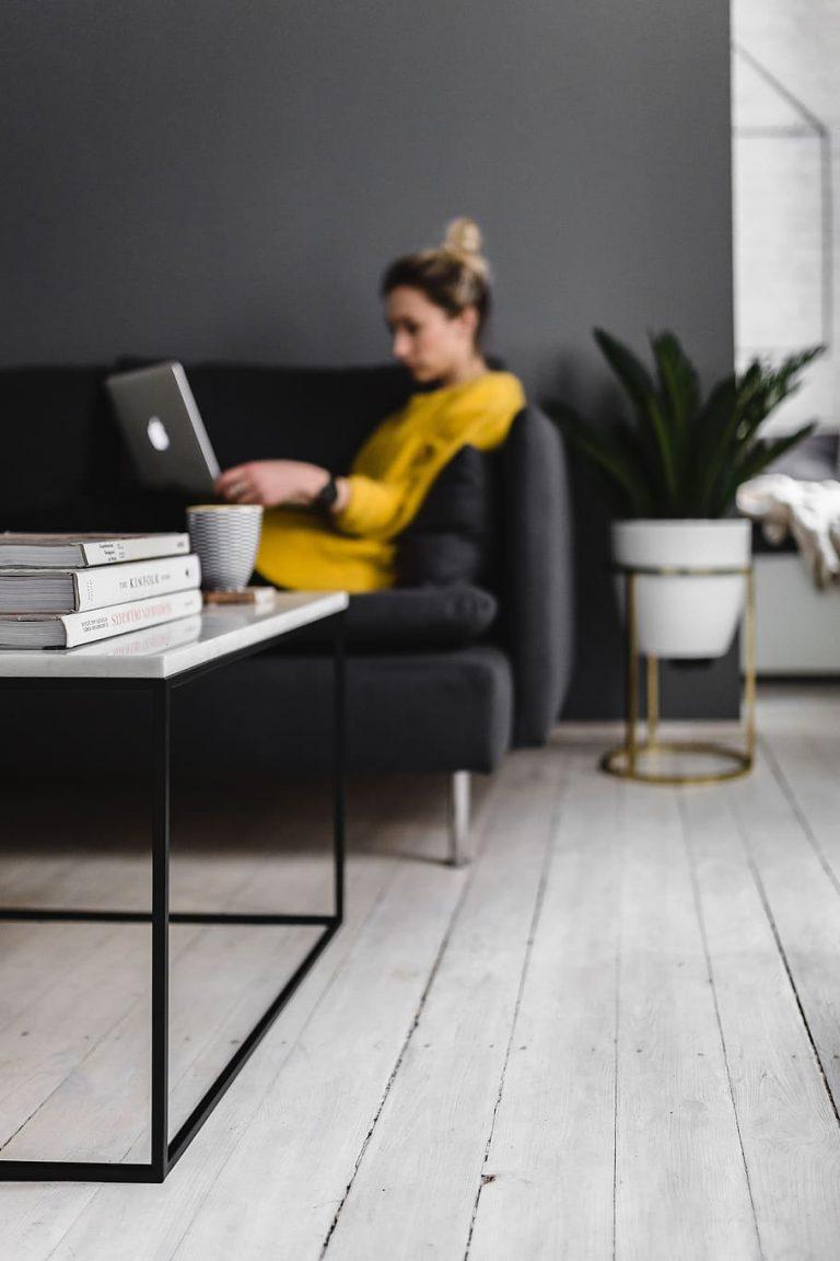 Minimalism caucasian girl person woman minimal sofa1