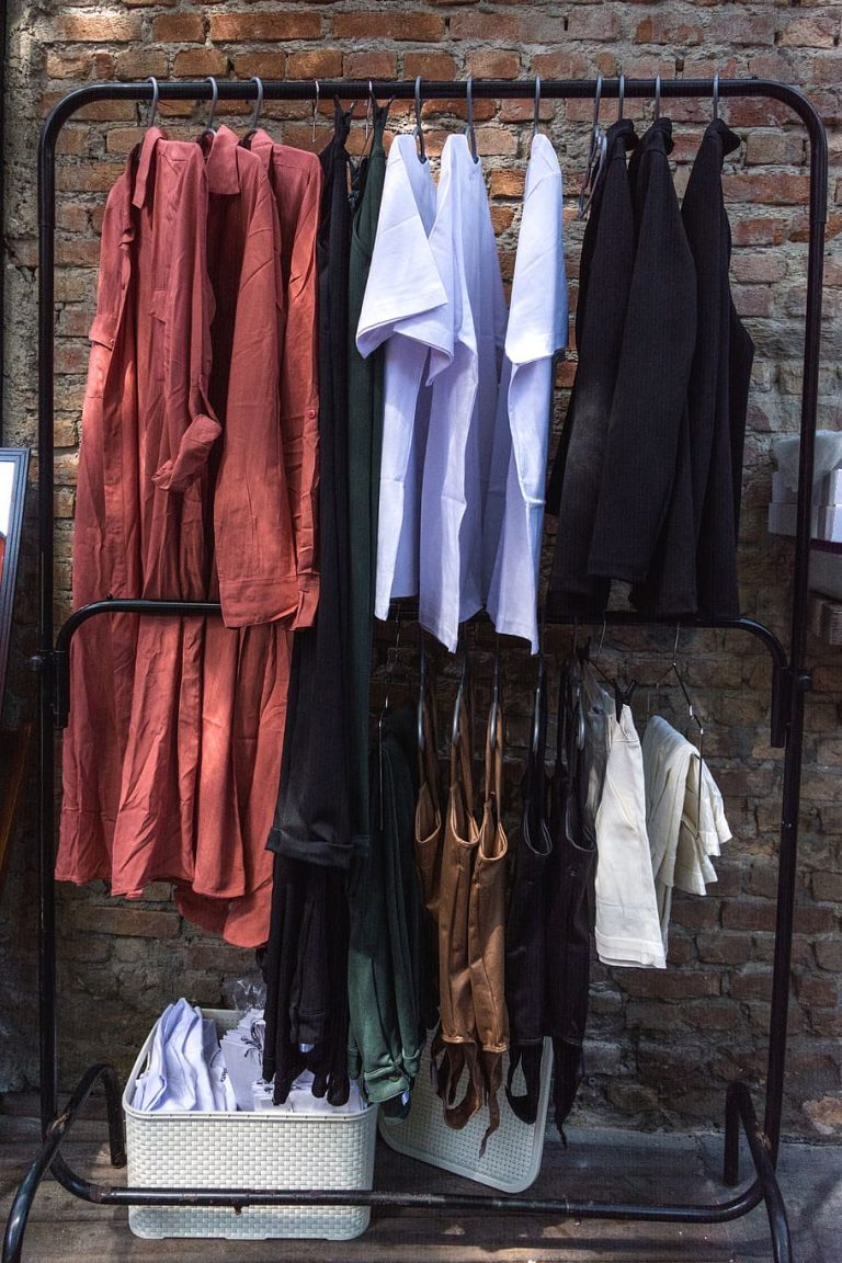 clothes on clothes rack1