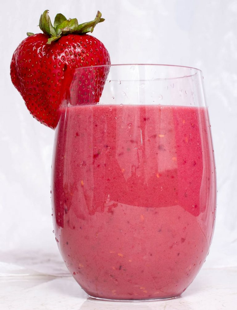 Strawberry Smoothie With Coconut Cream drink fruit strawberry glass sweet1