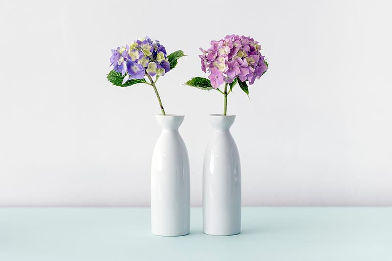 How to Extend the Life of a Flower Bouquet two milk glass vase with flowers1